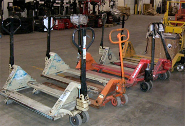 new and used pallet jacks available for Denver businesses